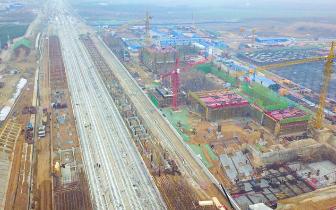 郑万高|金视界|郑万高铁平顶山西站紧张施工