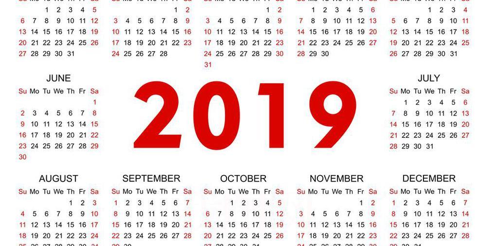 2019年传统节假日放假时间 五一放一天