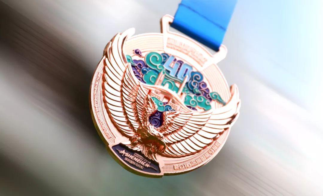 ▲ 获奖运动员铜牌