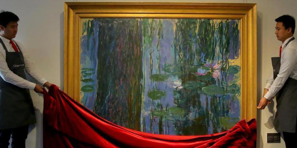 莫奈油画《垂柳与睡莲池》在京展出