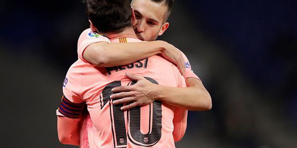 西甲-梅西双响苏牙建功 巴萨4-0西班牙人