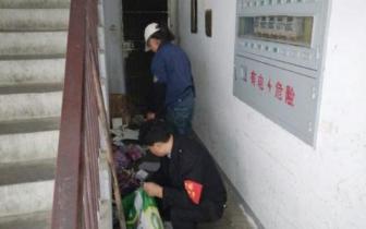 社区楼道杂物清理受到居民一致好评