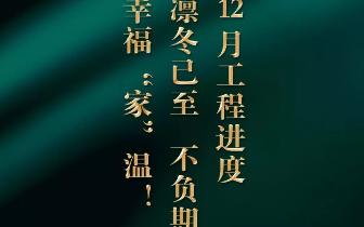 """【景惠佳园】12月工程进度丨凛冬已至,幸福""""家""""温!"""
