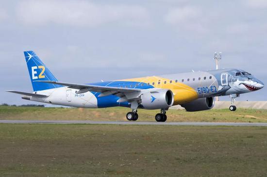 巴航E190 E2全球演示飞行收官 航程绕地球6圈