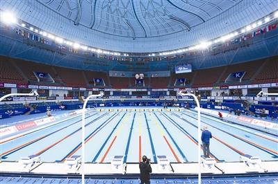 世游赛泳池正式启用