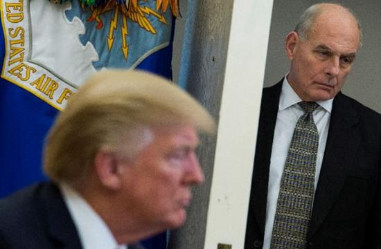 白宫幕僚长约翰·凯利将在今年底前辞职。(图片来源:网络)