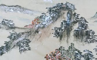 """四川乐山画家绘16米长卷表白峨眉山:""""她是我的情人"""""""