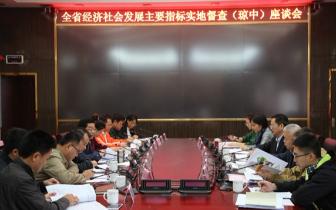 琼中召开全省经济社会发展 主要指标实地督查座谈会