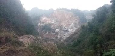 四川兴文县5.7级地震 震中山体垮塌