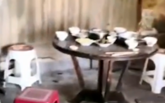四川兴文5.7级地震大地裂口 流水席客人惊吓跑光