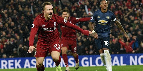 英超-沙奇里马内建功 利物浦3-1曼联登顶