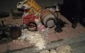 爆米花机爆炸现场一片狼藉 一人被炸伤