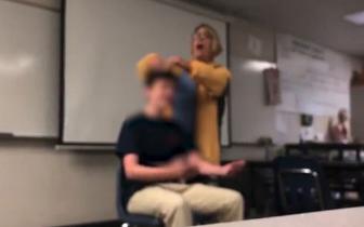 美国高中女教师课堂上强行给学生剪发 被警方逮捕