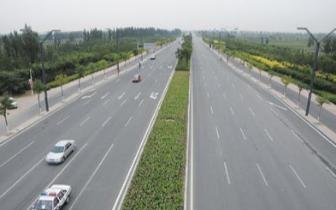 御河西路高速南出口生态绿化提升工程推进有序