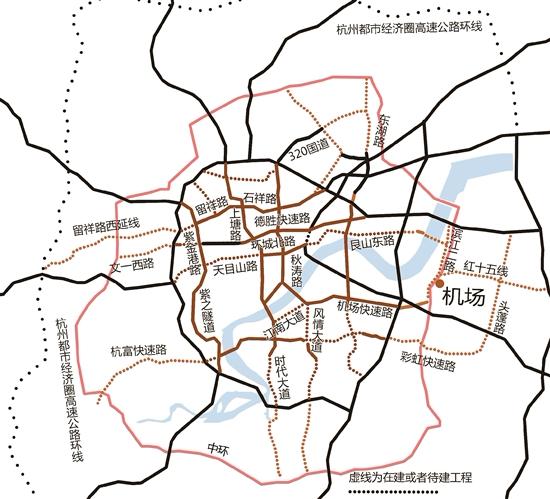 亚运会前,杭州要建成464公里快速路网