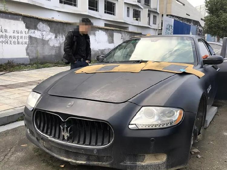 百万玛莎拉蒂被掏空案嫌犯被抓:想拆了装自己车上