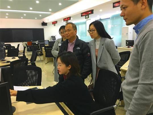 林婧老师为胡永泰教授讲解办税与出口退税的实操系统
