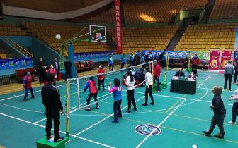 2018年大同市首届气排球比赛在大同市体育馆开赛