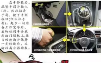 车管教程:手动挡车型 坡路如何起步