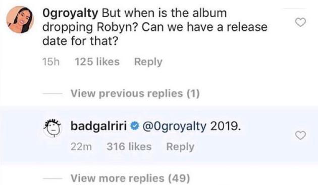 歌迷的春天!蕾哈娜宣布将于 2019年发布新音乐