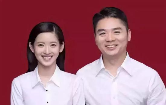 章泽天和刘强东结婚照片
