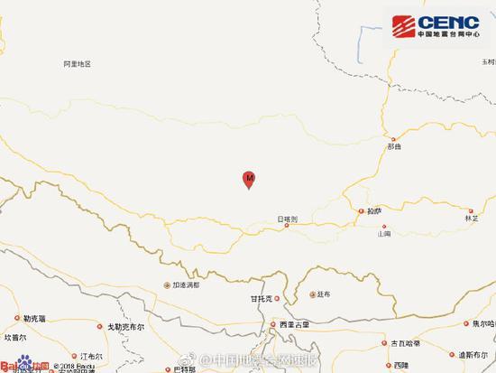 20分钟内2次!西藏谢通门县发生3.9级地震