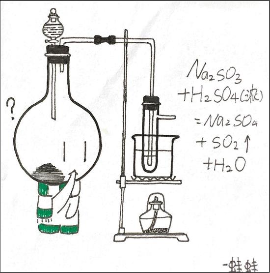 高中女生灵感一现 冷冰冰数理化变成萌哒哒漫画