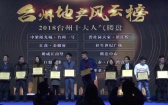 """台州一号荣获""""2018台州十大人气楼盘"""" 实至名归"""
