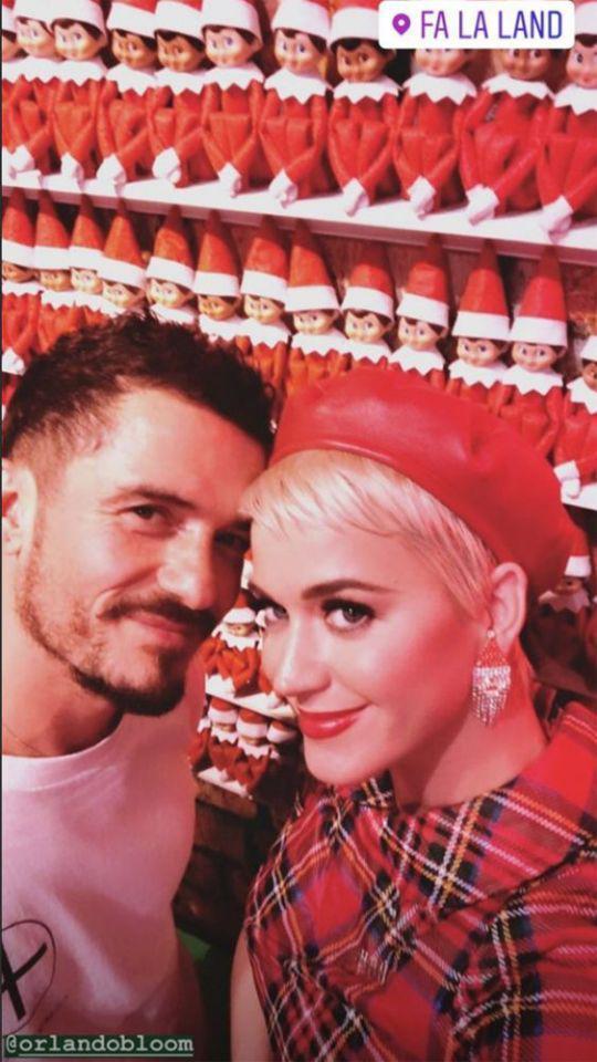 水果姐和男友奥兰多共度浪漫假期 与彩虹唯美合影