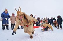 鄂伦春冰雪伊萨仁开幕 民众雪地上撒欢