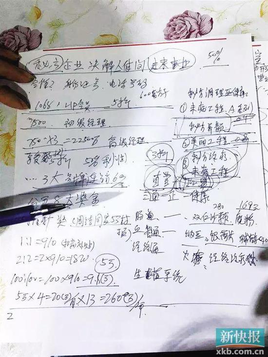 ■cc国际时时彩平台_cc国际网投出租_cc国际怎么反水门店的工作人员在给新快报记者计算分成模式。