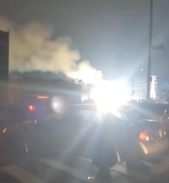 爆炸现场(@rizrmusic的ins截图)