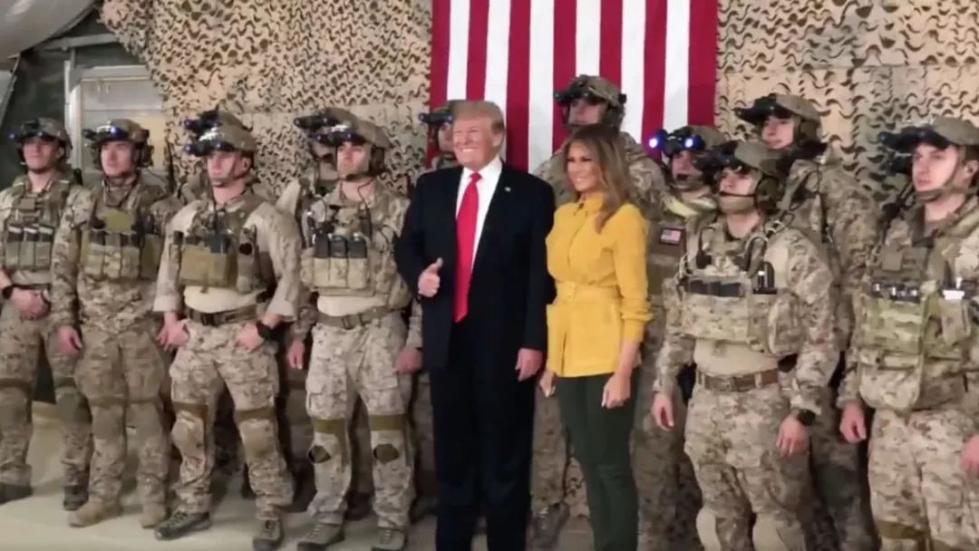 特朗普推特发伊拉克访问视频 泄露海豹突击队机密