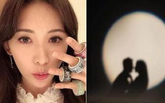 林志玲晒男女接吻剪影 网友激动:要官宣了吗