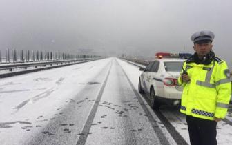 都汶高速都映段道路结冰管制 进出阿坝州需绕行国道