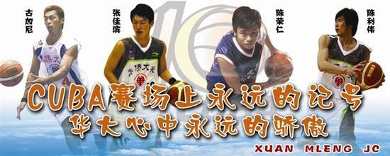 华侨大学早年为篮球队做的宣传海报