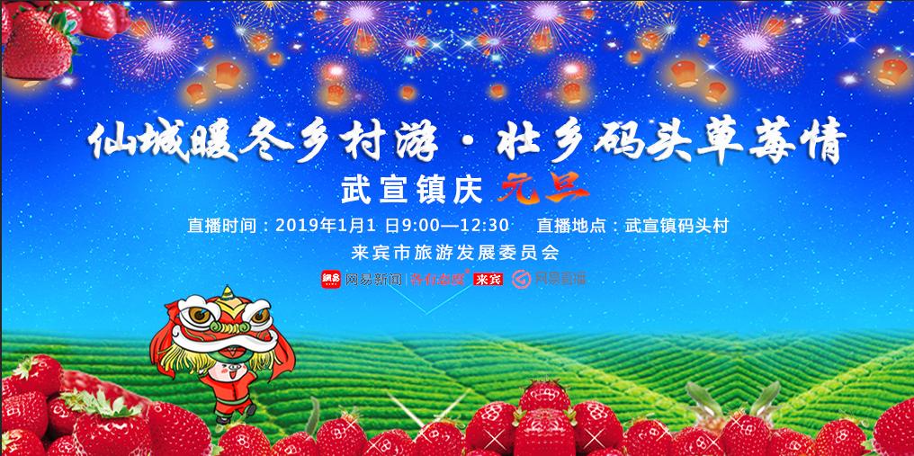 """武宣镇元旦""""壮乡码头草莓情"""""""