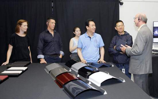 7月13日,恒大集团董事局主席许家印视察位于美国洛杉矶的FF总部