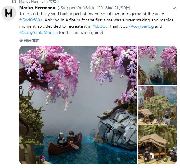 国外玩家用乐高打造《战神》经典场景 获制作人称赞