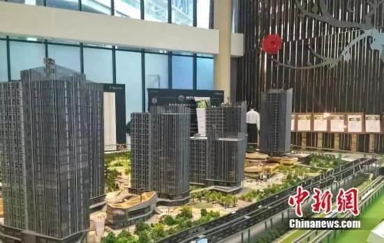 北京房山区某商改住楼盘销售中心。中新网 种卿摄