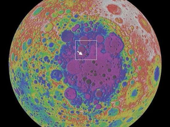 从月球极区看冯卡门坑(图片来源:NASA)