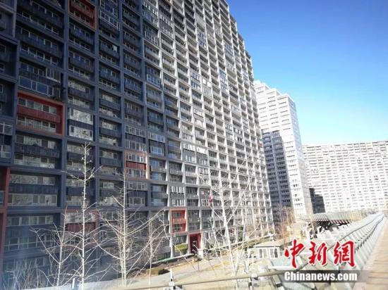 2018年12月,北京像素小区,楼房窗户密密麻麻。中新网记者邱宇摄