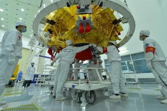 嫦娥3号探测器(图片来源:中国空间技术研究院)