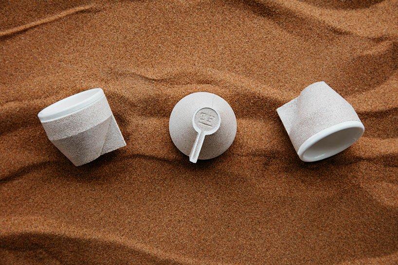 资源利用新主张——沙子做的咖啡杯