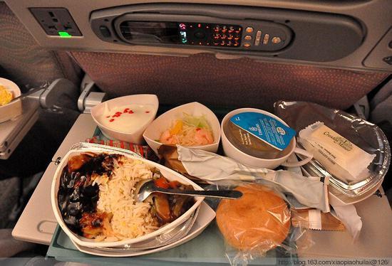 阿联酋航空的飞机餐