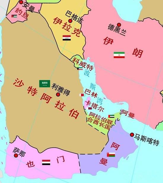 图1:阿联酋的地理位置