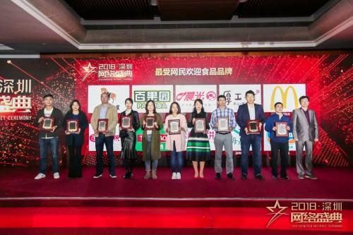 """百果园入选食品行业""""年度最受网民欢迎品牌"""""""
