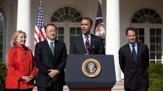 美国时任总统奥巴马宣布金墉为世行行长