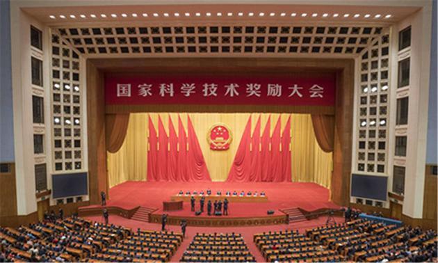 国家最高科学技术奖获得者:刘永坦院士,钱七虎院士.