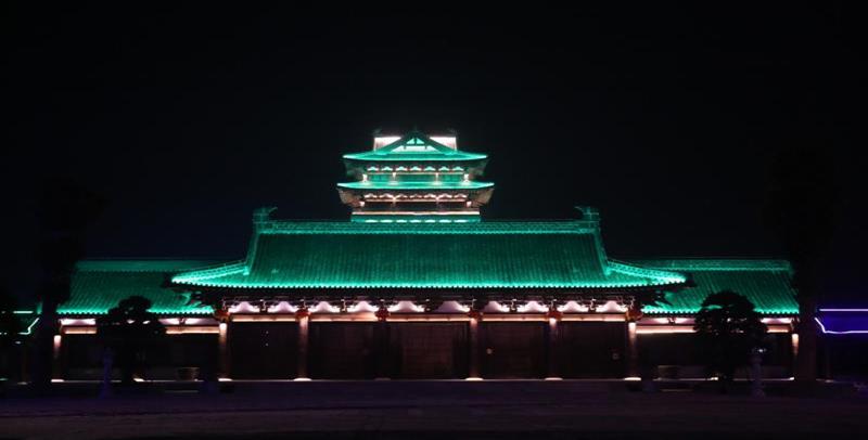 夜意阑珊  夜晚中的阜阳城